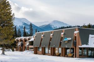 Marmot Lodge Jasper during the winter