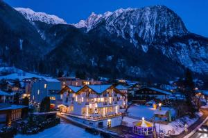 Hotel Stecher during the winter