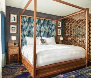 A bed or beds in a room at Hard Rock Hotel Dublin