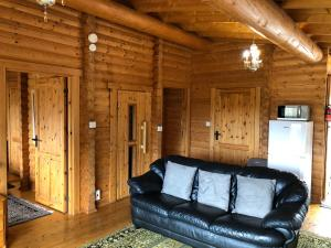 A seating area at Glenbeag Mountain Lodges