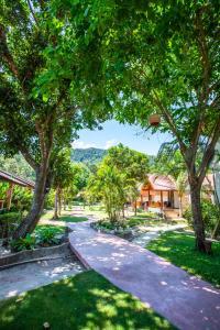 A garden outside Nice Beach Resort Koh Pha-ngan