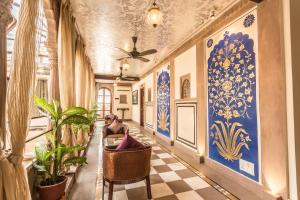 The lobby or reception area at BrijRama Palace- A Heritage Hotel
