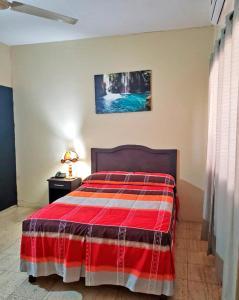 Cama o camas de una habitación en Hotel Del Valle
