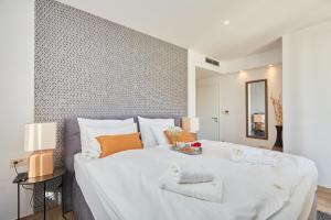 Posteľ alebo postele v izbe v ubytovaní Dubrovnik Deluxe Blue Bayou