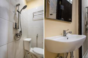 A bathroom at OYO 2971 W&w Executive Hotel