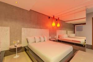 Cama ou camas em um quarto em Assahi Motel (Adult Only)