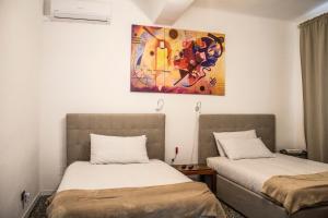 Letto o letti in una camera di Appartamento in antica cascina