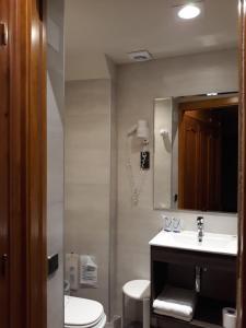 A bathroom at Hotel Aragüells