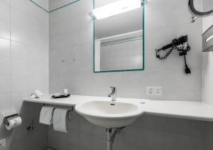 Salle de bains dans l'établissement Hotel et Centre Thermal d'Yverdon-les-Bains