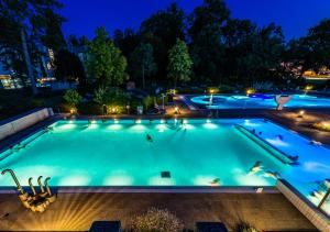 Piscine de l'établissement Hotel et Centre Thermal d'Yverdon-les-Bains ou située à proximité