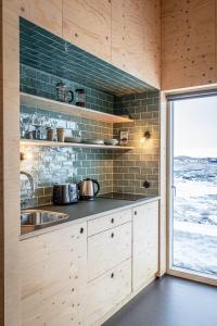 Eldhús eða eldhúskrókur á Aska, Modern Cabin