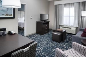 A television and/or entertainment center at Homewood Suites by Hilton Cedar Rapids-North