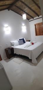 Cama ou camas em um quarto em Pousada Amor de Casa
