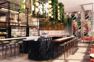 The lounge or bar area at W Toronto