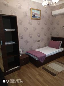 Cama ou camas em um quarto em Qabala Grand Villa