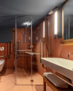 A bathroom at Whitworth Locke