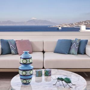 A balcony or terrace at Myconian Kyma - Design Hotels