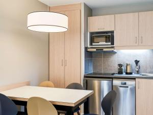 A kitchen or kitchenette at Aparthotel Adagio Monaco Monte Cristo
