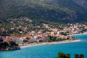 Vista aerea di Odysseas ART VILLA-Spa