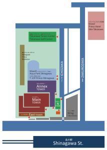 品川王子大飯店平面圖