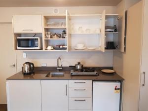A kitchen or kitchenette at Delago Motel/Apartments