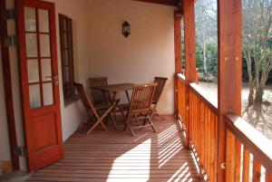A balcony or terrace at Laragh-on-Hogsback