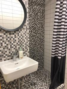 A bathroom at Astos Vila