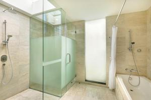 A bathroom at Legian Beach Hotel