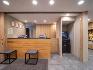 The lobby or reception area at Super Hotel Hakodate