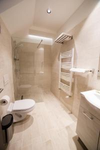 A bathroom at Pensiunea Luceafărul Sibiu
