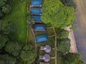 Blick auf Mirembe Resort Beach Hotel aus der Vogelperspektive