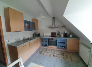 A kitchen or kitchenette at Apartment Binnenhafen