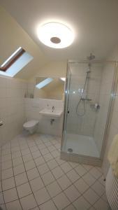 A bathroom at Hotel Rahserhof