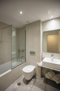 A bathroom at Hotel Cooee Albatros