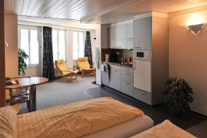 A kitchen or kitchenette at Hotel Oberland