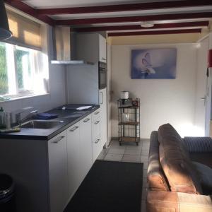 Een keuken of kitchenette bij De Vlinder Renesse