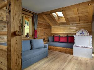 Ein Sitzbereich in der Unterkunft Apartments Riega