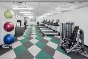 The fitness center and/or fitness facilities at Element Times Square West
