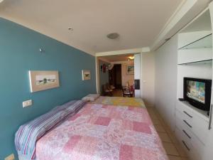 Cama ou camas em um quarto em Atlántico Flat