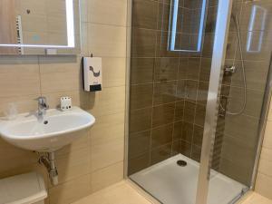 Kúpeľňa v ubytovaní Penzion Moto