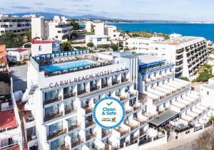 Carvi Beach Hotel a vista de pájaro