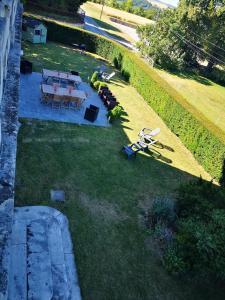 A bird's-eye view of La vie de château, Gîte à 100km de Paris, en famille ou entre amis, 15 personnes