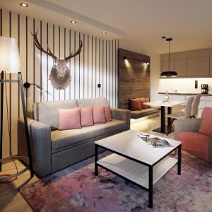Ein Sitzbereich in der Unterkunft Dorint Resort Winterberg Sauerland