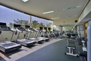 The fitness center and/or fitness facilities at Crowne Plaza Muscat, an IHG Hotel