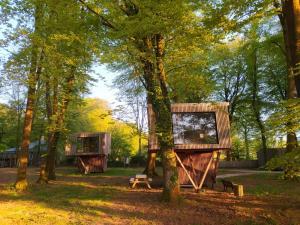 Jardin de l'établissement L'étape en forêt