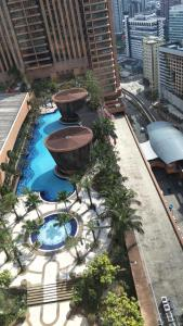 A view of the pool at Radisson apartment at Times square or nearby