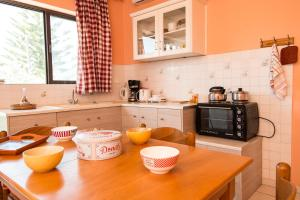 A kitchen or kitchenette at Dionysia's Apartments