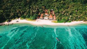 A bird's-eye view of Adang Island Resort