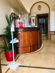 The lobby or reception area at Hotel Serena