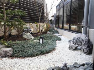 京都四條新町穎特飯店室外花園